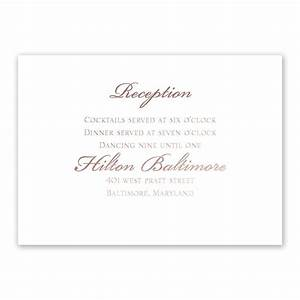 gilded beauty rose gold foil reception card invitations With wedding reception invitations with pictures