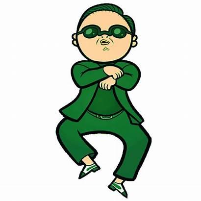 Clip Clipart Fame Dancing Animated Gangnam Cartoon