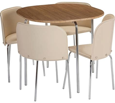 buy hygena aro dining table and 4 chairs oak effect