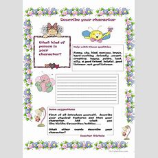 Describe Your Character Worksheet  Free Esl Printable Worksheets Made By Teachers