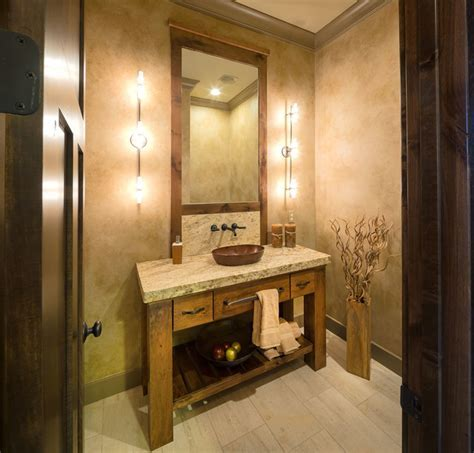 Model Home, Starr Homes LLC   Rustic   Powder Room