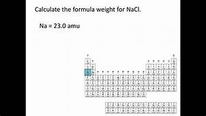 Atomic Weights  Molecular Weights And Formula Weights