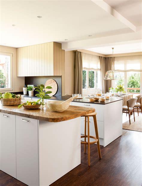 cocinas blancas encimera madera excellent mueble de