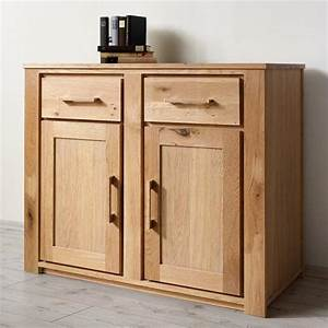 Sideboard Wildeiche Massiv Geölt : neu sideboard wildeiche massiv ge lt 110cm kommode ~ Watch28wear.com Haus und Dekorationen