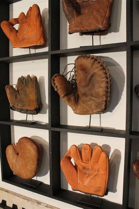 baseball glove display image  man room baseball