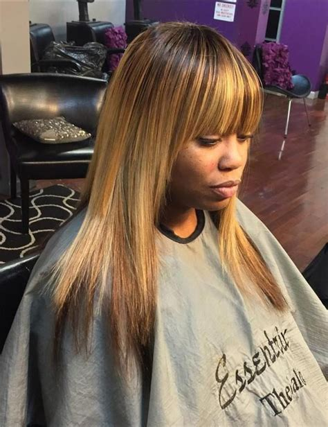 Sew In Hairstyles With Side Bangs by Best 25 Sew In With Bangs Ideas On Wigs With