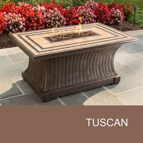 agio tuscan pit rectangle pit design furnishings