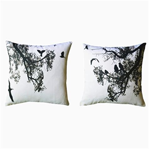 black and white decorative pillows howarmer 174 canvas square decorative throw pillows black and