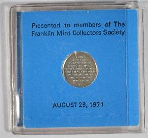 1971 APOLLO 14 MINI COIN MADE FROM SILVER TAKEN TO THE MOON