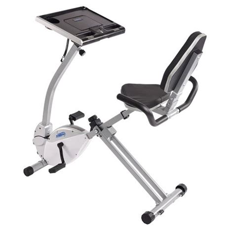 recumbent bike computer desk stamina 174 2 in 1 recumbent exercise bike workstation and