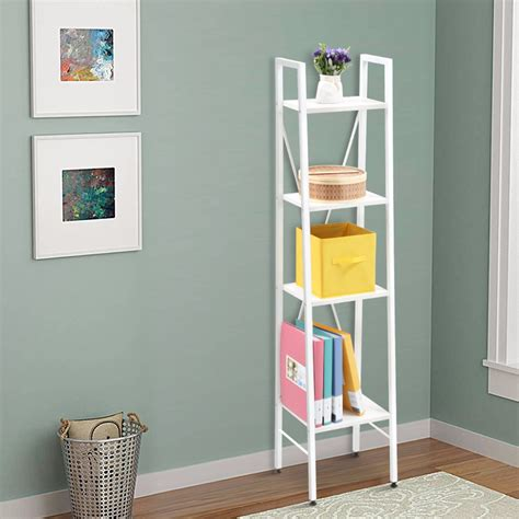 trendy nice white metal cheap bookcases  woven basket