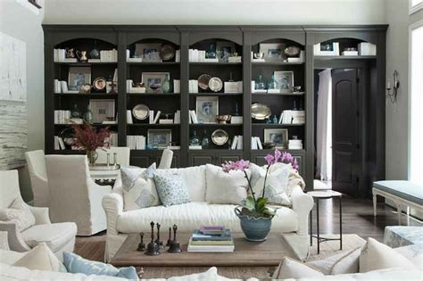 Built In Bookcase  Country  Dining Room  M Elle Design