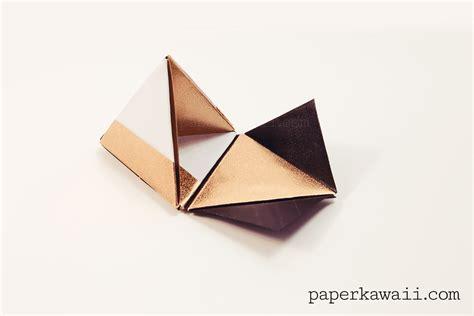 modular origami pyramid box video tutorial paper kawaii