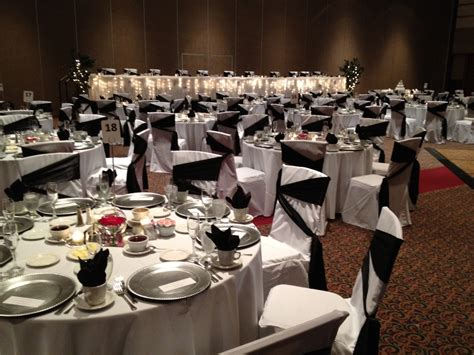 black red  silver wedding reception lansing center