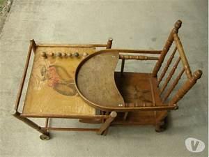 Chaise Pour Table Haute : chaise haute ancienne bois clasf ~ Teatrodelosmanantiales.com Idées de Décoration