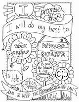 Scout Brownie Coloring Pages Quest Scouts Brownies Cookie Sheets Activities Daisy Cookies Crafts sketch template