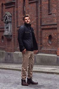Quilted Jacket Fashion Men