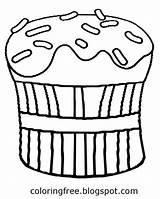 Drawing Coloring Butter Peanut Pastry Sketch Template Printable Getdrawings Sheet Cupcake Chocolate Teenagers Baking sketch template