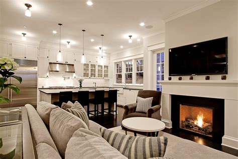 stunning open kitchen design with living room 44 charming living rooms with fireplaces marble buzz