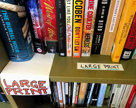 Large Print Books Keep Reading With Books That Have