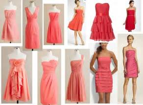 coral bridesmaid dresses bonnieprojects wedding wednesday mismatched coral bridesmaid dresses