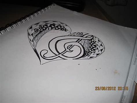 tribal polynesian heart tattoo design  treble clef