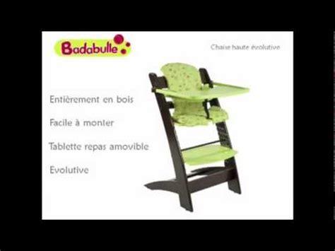 badabulle chaise haute vidéo ukeez tv chaise haute évolutive badabulle