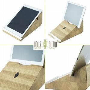 Tablet Halter Holz : tablet halter tablojdo 10 ipad halter aus holz tablet halterung 10 zoll holzbutiq ~ A.2002-acura-tl-radio.info Haus und Dekorationen