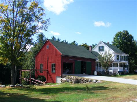 Red Barn And White House
