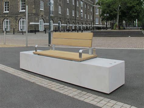 fortis seat bench concrete timber public seating