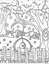 Swing Coloring Pages Tree Template Tire sketch template