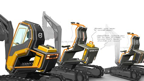 gaiax concept compact excavator takes inspiration