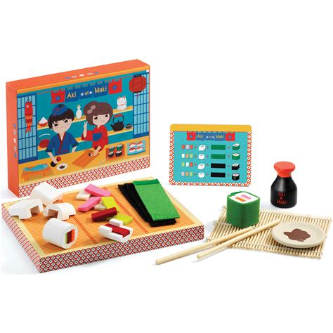 cuisine djeco pretend play sushi restaurant djeco aki and maki dj06537