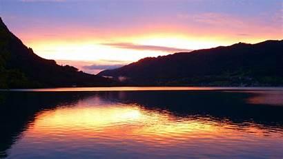 Sunset Lake Desktop Background