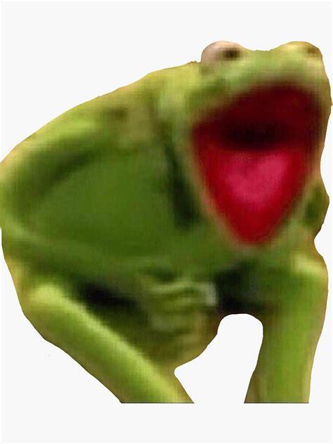 kermit scream sticker  kykyswan redbubble