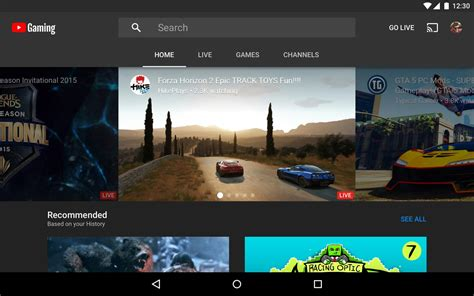 youtube gaming apk   entertainment app