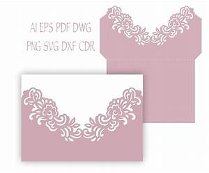 5x73939 floral wedding invitation pocket envelope svg With pocket wedding invitations cricut