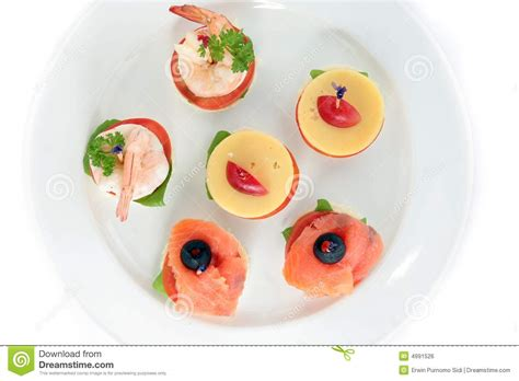 cuisine canapé finger food canape royalty free stock photography