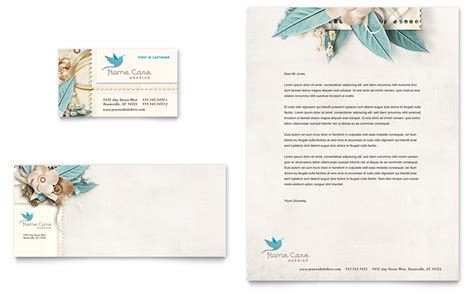 hospice home care business card letterhead template