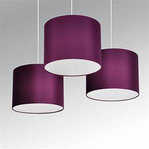 set of 3 modern purple plum ceiling lights pendant light With floor lamp with plum shade