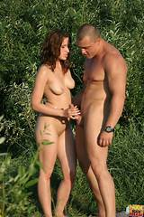 Couple naked outdoors photo