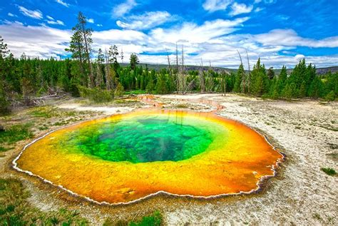 couples vacation spots park yellowstone pool glory morning usa planetware vacations wyoming national
