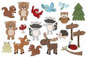 Adorable, Free Woodland Animals Clipart and Digital Papers ...
