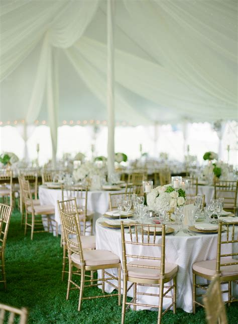 gold chiavari chairs  white linens