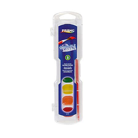 office max watercolor paint prang washable watercolors 8 color set with brush assorted