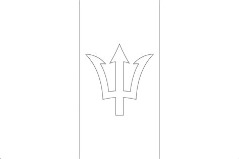 Barbados Flag Coloring Page Best Image Of Coloring Page