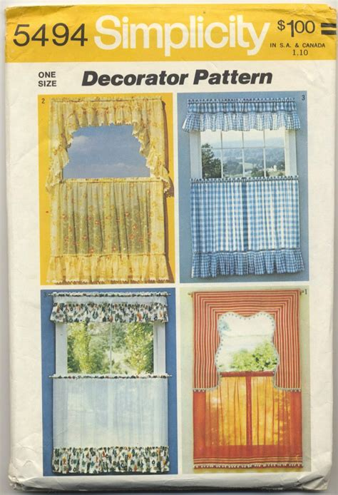 simplicity 5494 set of curtains decorator sewing