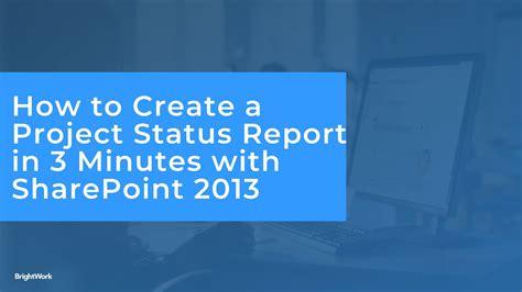 create  minute status reports  sharepoint