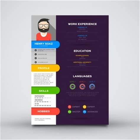 Graphic Designer Cv Vector Free by Cv Template Vectors Photos And Psd Files Free