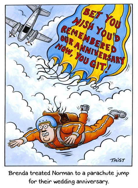 funny card parachute jump wedding anniversary comedy card company
